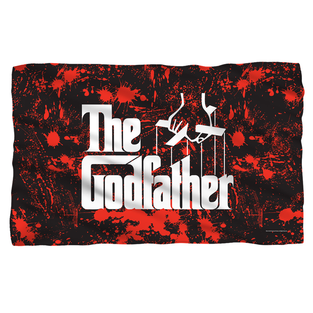 Godfather Logo Fleece Blanket White 48X80