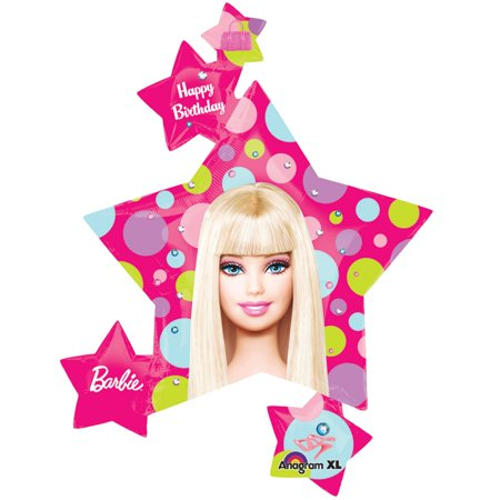 Barbie Balloon Cluster - Party Supplies](Barbie Balloons)
