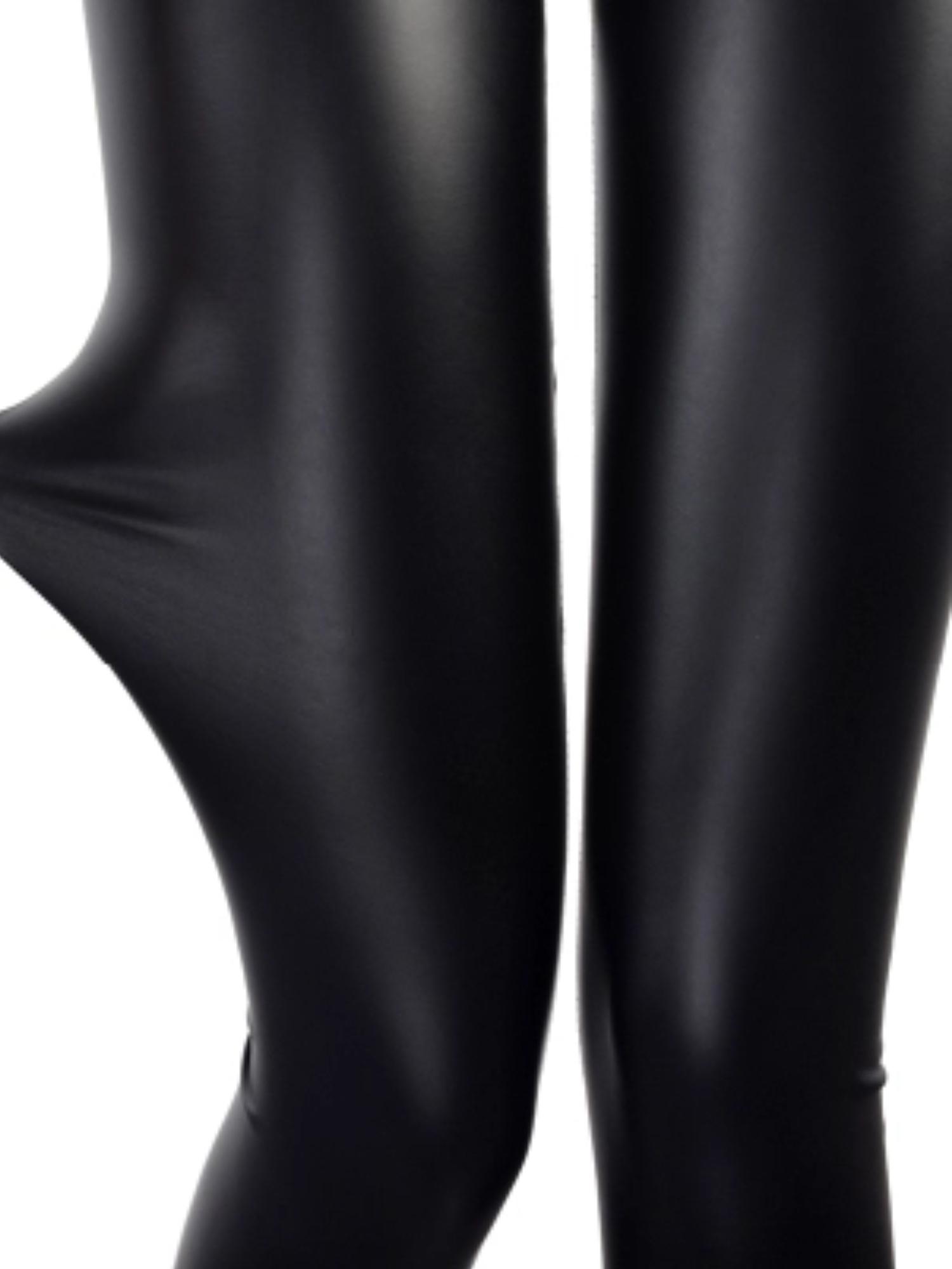 24a56f0e7 SAYFUT - SAYFUT Women Girls Faux Leather Leggings Warm Pants Slim Tight  Stretch Velvet Trouser Black S-4XL - Walmart.com