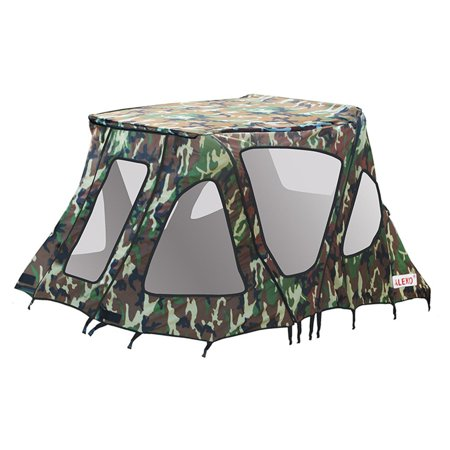 ALEKO BWTENT320CM Winter Canopy Boat Tent Rain Sun Wind Snow Waterproof Shelter Covering for Inflatable Boat,