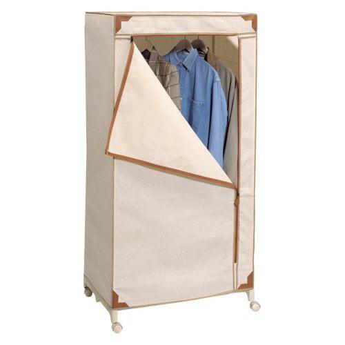 Neu Home Storage Wardrobe - Canvas with Tan Trim