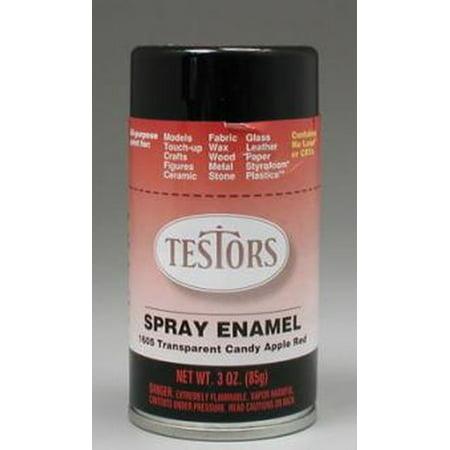 Red Spray Testors Enamel Plastic Model Paint