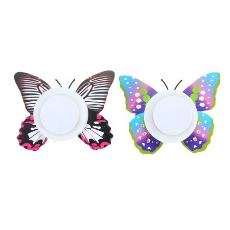 Fashion LED Glowing 3D Butterfly Night Light Sticker Art Design Mural Home Wall Decal  - image 8 of 12