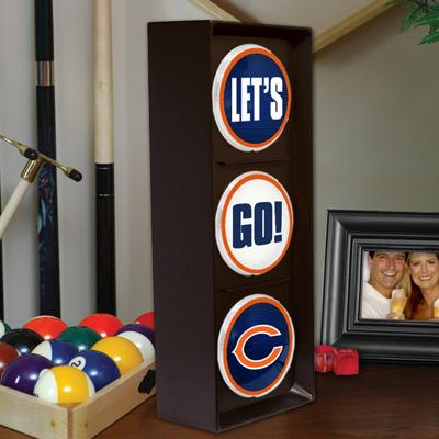Chicago Bears Wall Mountable Flashing Let's Go