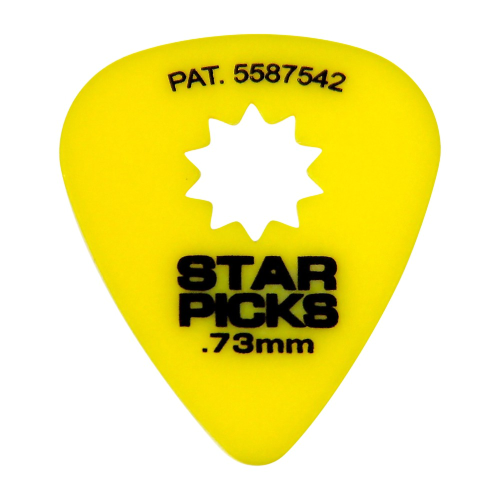 Everly Star Grip Guitar Picks (50 Picks) .73 mm Yellow by Everly