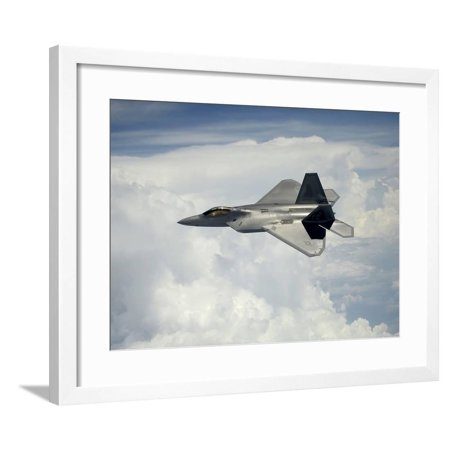 A U S  Air Force F-22 Raptor Aircraft in Flight Over Maryland Framed Print  Wall Art By Stocktrek Images