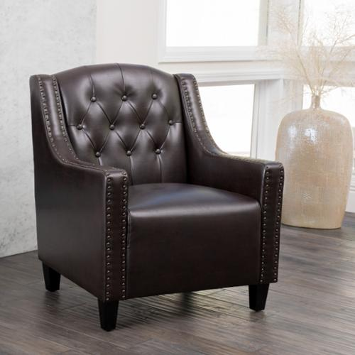 Christopher Knight Home Gabriel Tufted Leather Club Chair by by Overstock