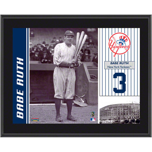 MLB - Babe Ruth Plaque   Details: New York Yankees, Sublimated, 10x13, MLB Plaque