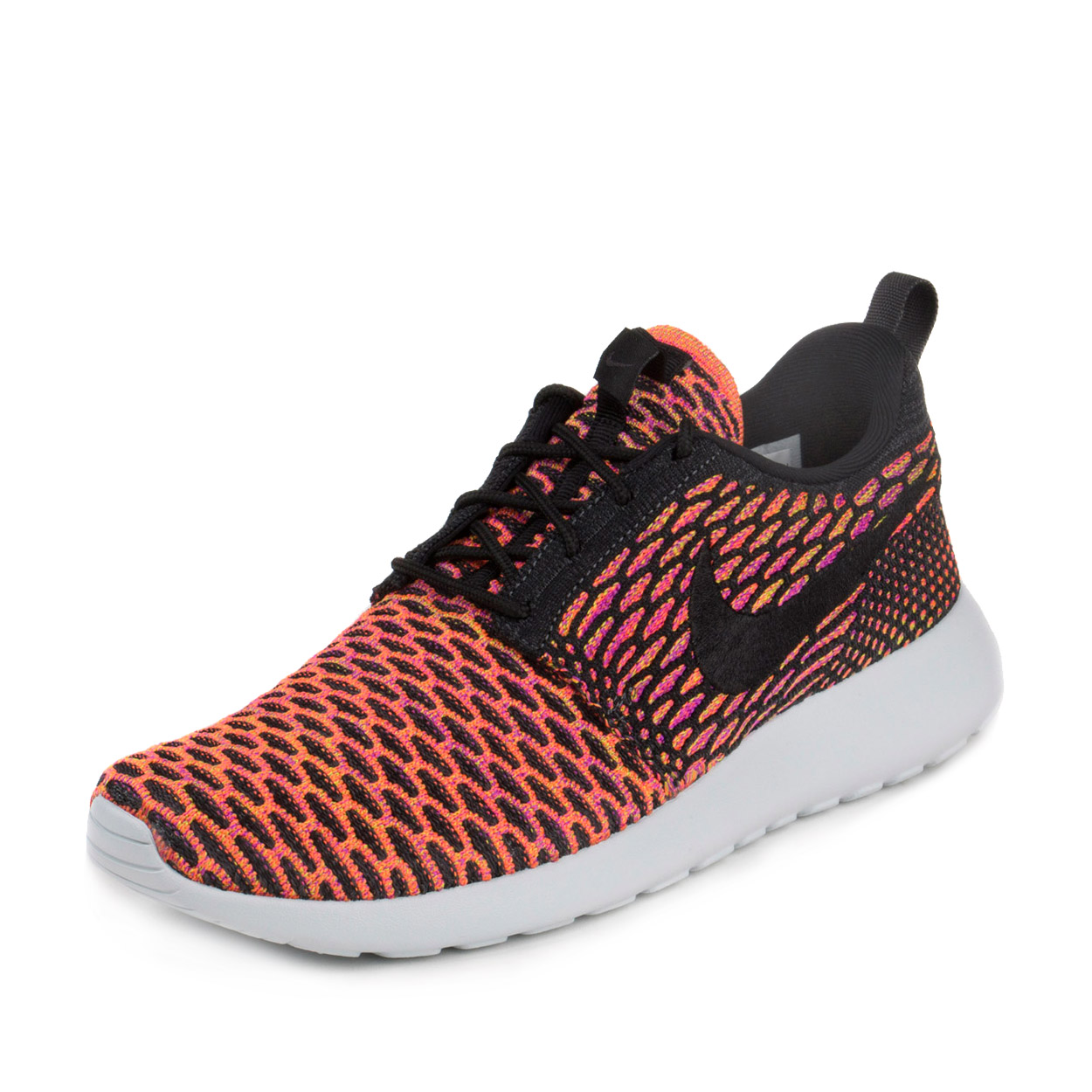 Nike Womens WMNS Roshe One Flyknit Anthracite/Orange-Vivi...