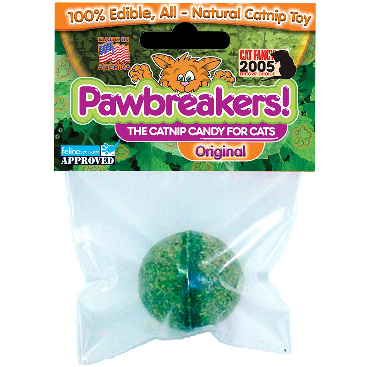 Catnip Natural Treats, Original, 100% All Natural By Pawbreakers by
