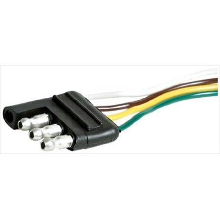 Wishbone Trailer Harness - 64845 Long 4-Way Wishbone Trailer Harness Male Plug, 48 In.