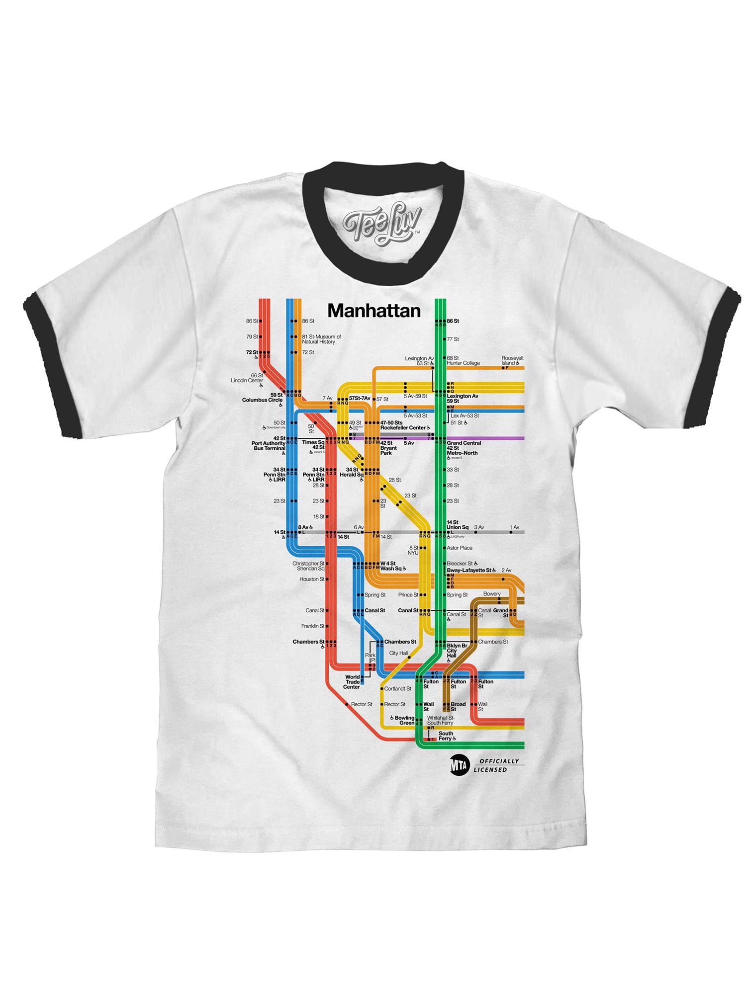 MTA New York City Subway Hoodie Big Apple Metro White Black Hooded Sweatshirt