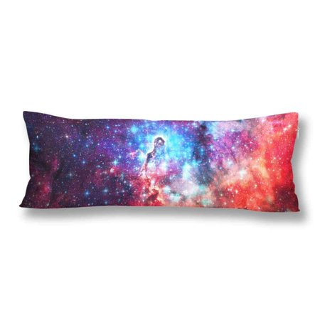 GCKG Beautiful Galaxy Space Nebula Body Pillow Covers Pillowcase 20x60 inches, Universe Stars Body Pillow Case Protector - image 2 of 2