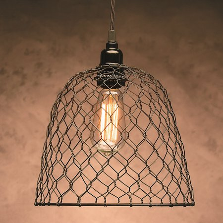 Metal chickenwire dome lampshade 10 x 825 walmart metal chickenwire dome lampshade 10 x 825 greentooth Image collections
