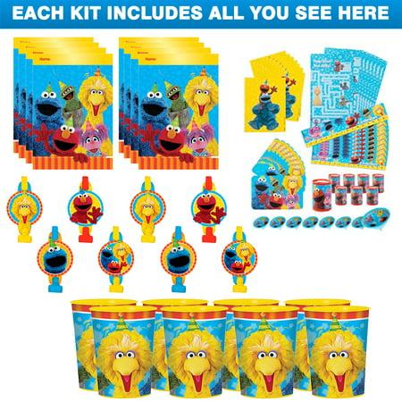 Sesame Street Favor Kit (For 8 - Sesame Street Gift Bags