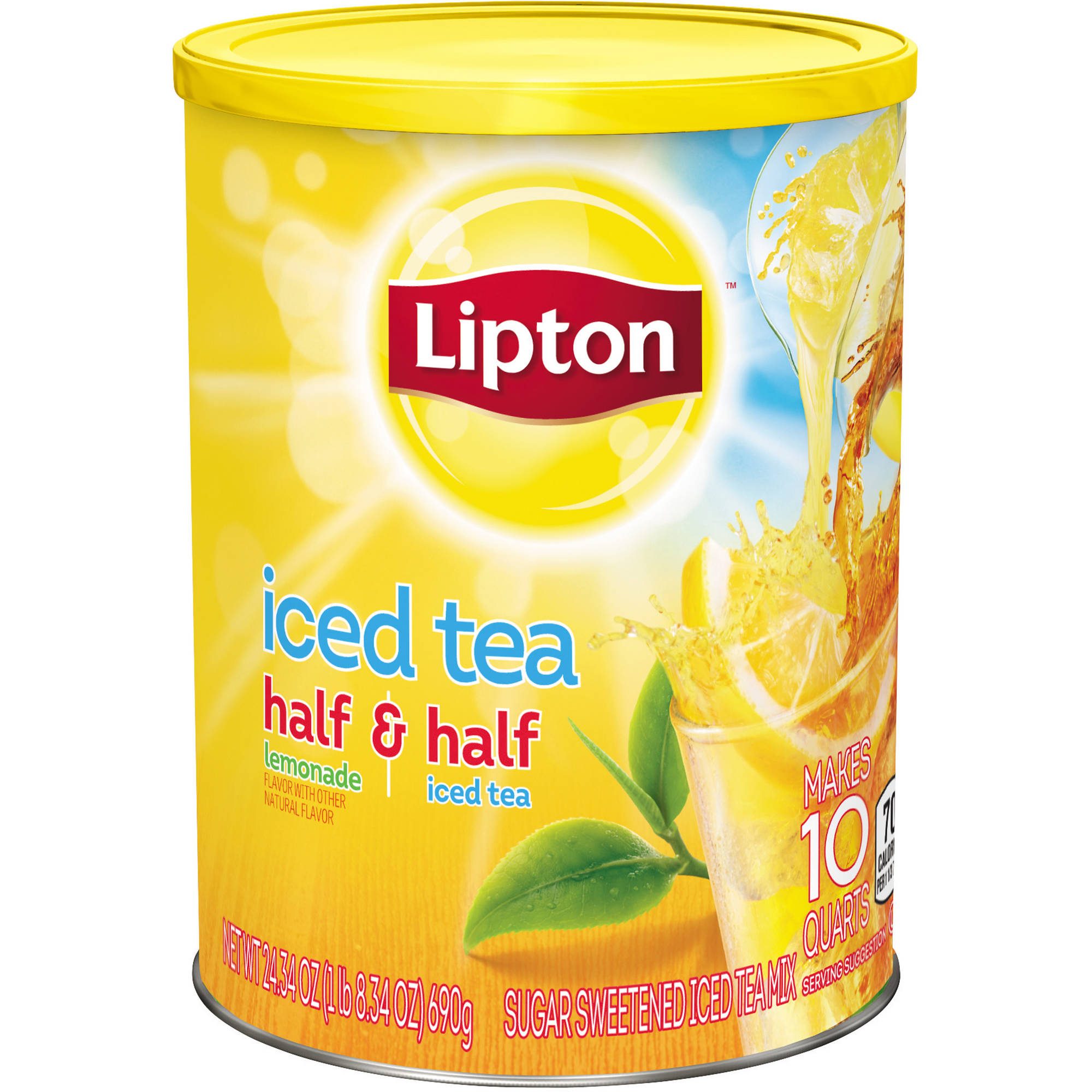 Lipton Half and Half Sweetened Iced Tea Mix, 10 qt