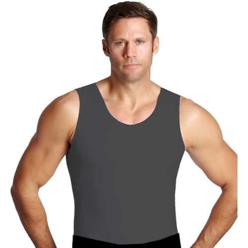 Grey Muscle Tank Men's Firming Compression Under Shirt (XL)