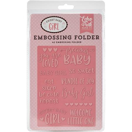 Echo Park Embossing Folder A2-Precious Baby