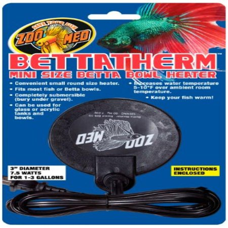 Zoo Med Bettatherm Submersible Betta Bowl Heater 7 5 Watts