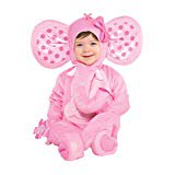 Elephant Costume for Halloween Party, School Acting, Costume Party, Play Jungle, Dia Brujas for Kids Size Infant 0-6 (1 Pack)