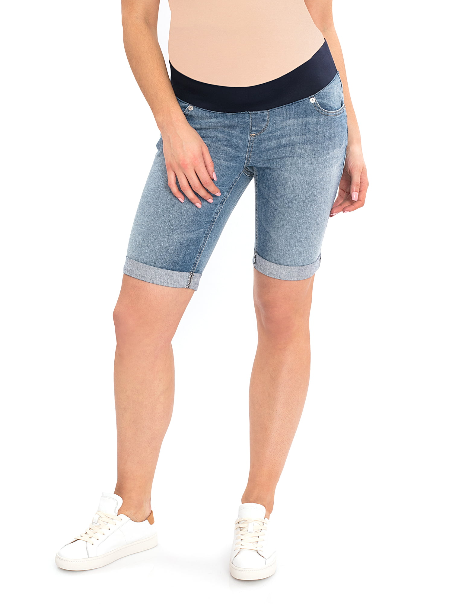 Maternity Denim Bermuda Shorts by Garan, Inc.