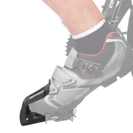 Wellgo MT-10 Mountain Bike Pedal Strapless Toe Clips (Strapless Toe Clips)