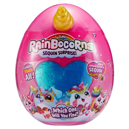 Rainbocorns Sequin Surprise Monkeycorn Plush in Giant Mystery Egg by ZURU](Halloween Egg Surprise)
