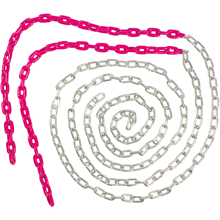 Swing Set Stuff Inc. 8.5 Ft. Coated Trapeze Chain Pair (Pink)