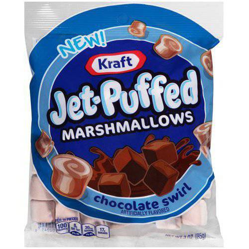 Kraft Jet-Puffed Chocolate Swirl Marshmallows, 3 oz