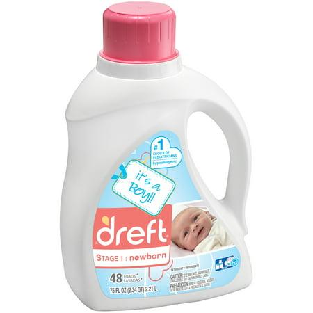Dreft Stage 1: Newborn Liquid Laundry Detergent 75 fl. oz. Plastic Jug