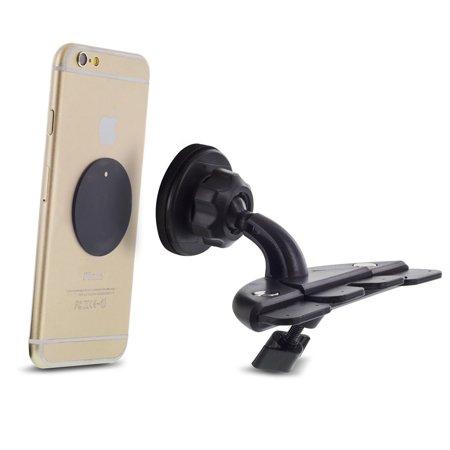 Insten 360 Degree Rotatable Joint Premium Universal CD Slot Magnetic Car Mount Cell Phone Holder - Black - image 6 of 7