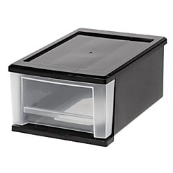 Office Depot Nearby (Office Depot Small Stacking Drawer, Black/Clear,)
