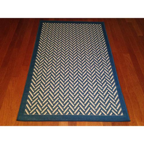 Art Carpet Indoor/ Outdoor Blue Geometric Pool Patio Deck...