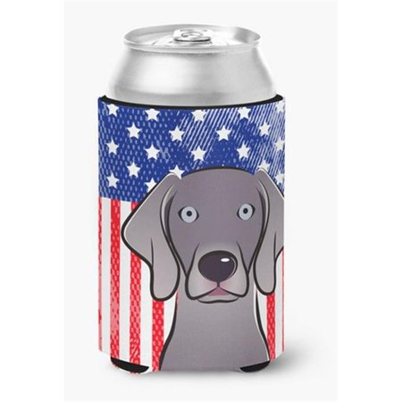 Carolines Treasures BB2161CC American Flag & Weimaraner Can or Bottle Hugger - image 1 de 1