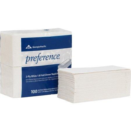 Preference 2-Ply Dinner Napkins - 2 Ply - 1/8 Fold - 15