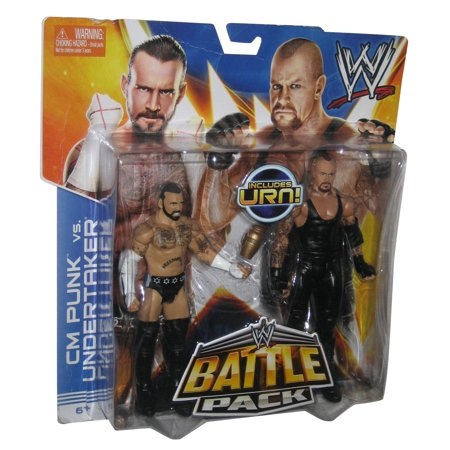 WWE Battle Pack CM Punk vs. Undertaker 2-Pack Figure Set w/ (Rock Vs Cm Punk Royal Rumble 2013)