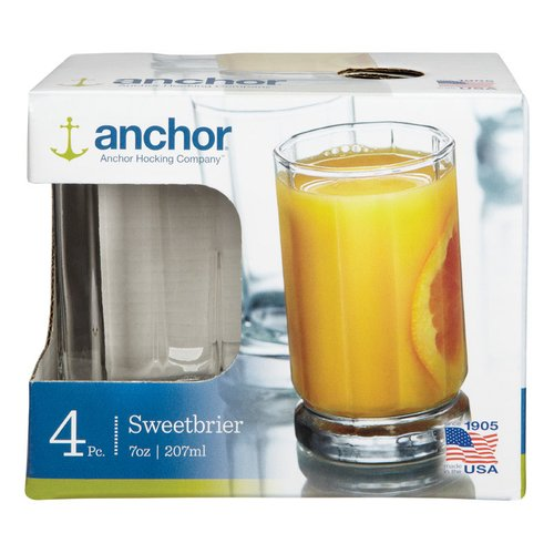 Anchor Hocking Beverage 7 oz. Glass Highball Glasses (Set of 4) (Set of 4)