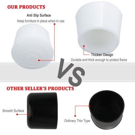 "Rubber Leg Cap Tip Cup Feet Cover 25mm 1"" Inner Dia 40pcs for Furniture Desk - image 5 de 7"