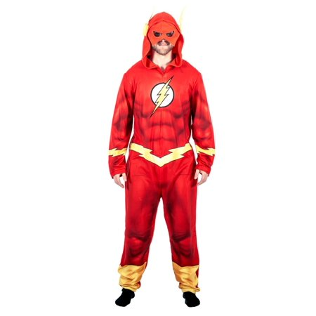 Justice League America The Flash Union Suit Costume Pajama (State Farm Costume)