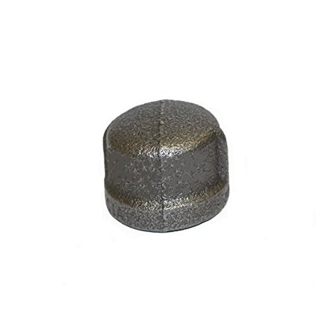 3/4 Inch Cap Black Malleable Iron Pipe Fittings Threaded Pack of