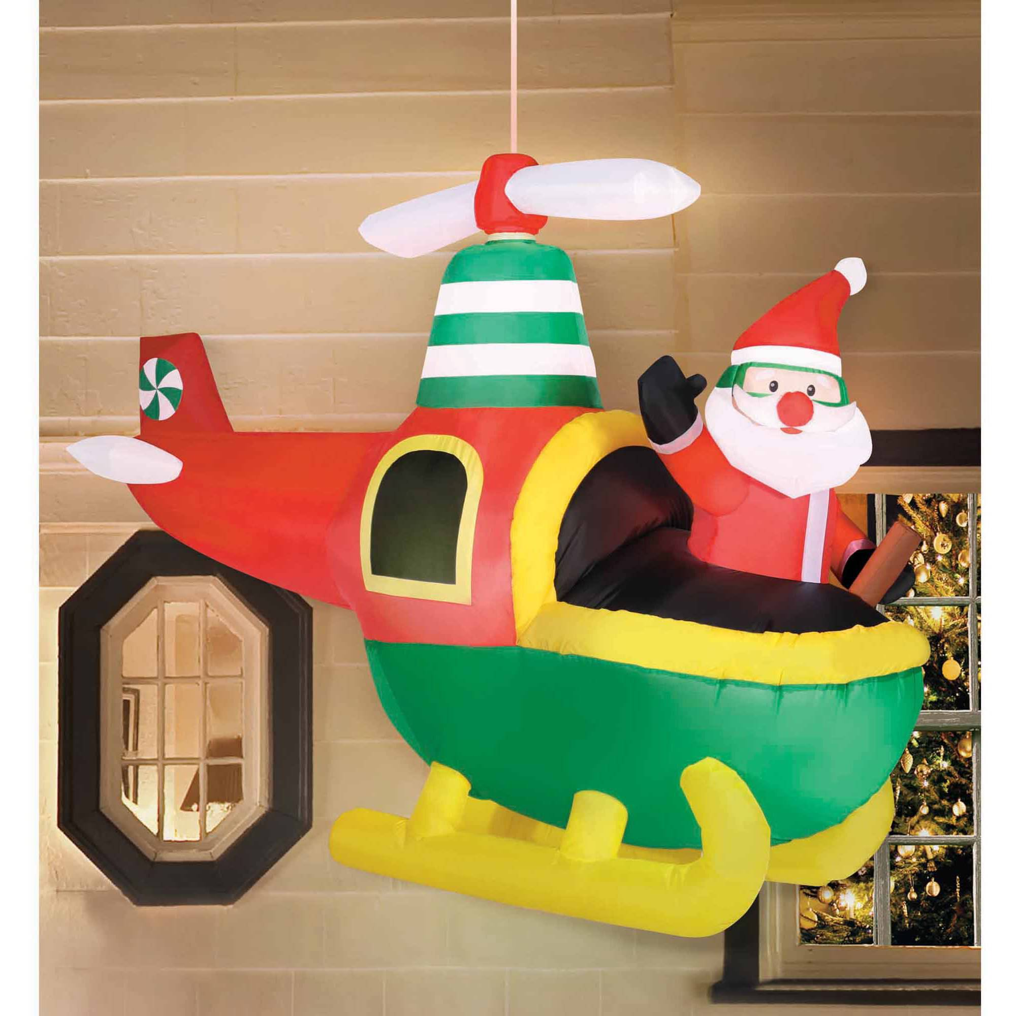 holiday time 56 hanging helicopter christmas inflatable walmartcom - Large Inflatable Christmas Decorations