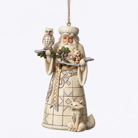 Jim Shore 4050011 Heartwood Creek Woodland Santa Ornament