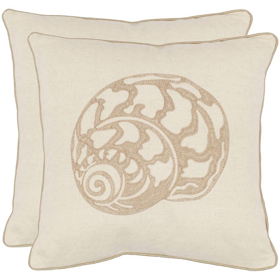 Safavieh Palmer Seashell Pillow, Set of 2