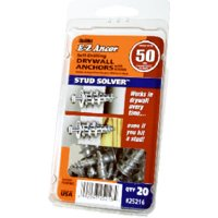 Stud Solver Drywall Anchors, Self-drilling, Metal, #50, 20 PK., ITW, 25216