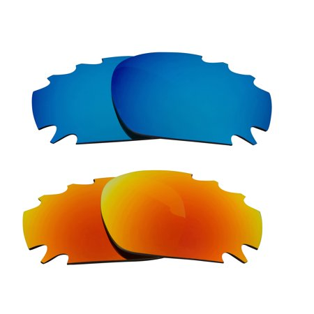 Martini Racing Sunglasses (Racing Jacket Replacement Lenses Blue & Yellow by SEEK fits OAKLEY)