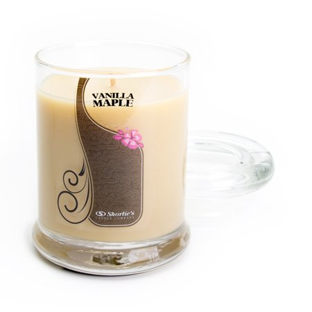- Vanilla Maple Candle - Small Beige 6.5 Oz. Highly Scented Jar Candle - Made With Natural Oils - Bakery & Food Collection
