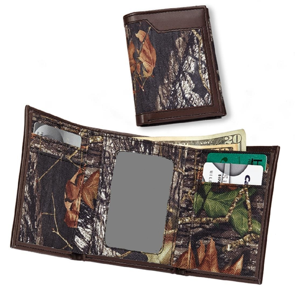 Casual Series Mossy Oak Break Up Nylon Tri-Fold Wallet