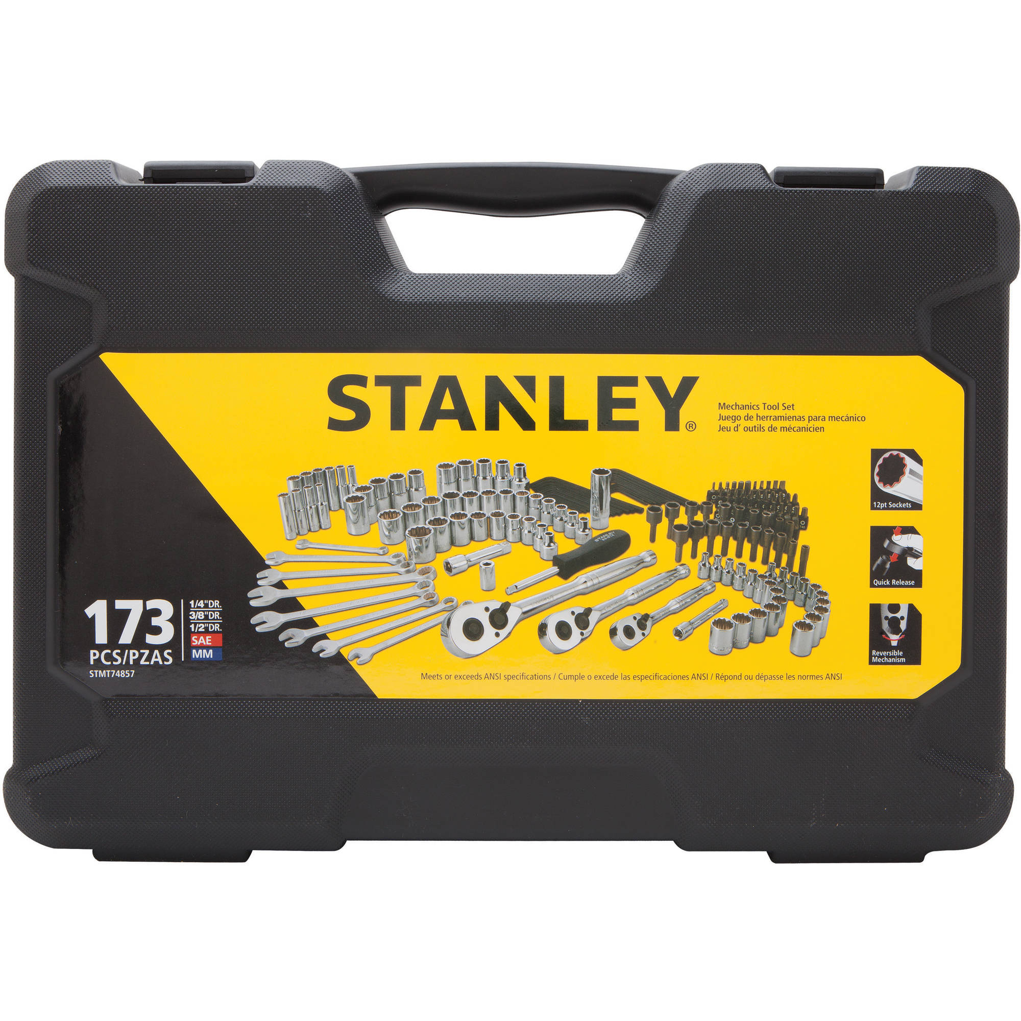 STANLEY 173-Piece Mechanics Tool Set | STMT74857 by Stanley Black & Decker