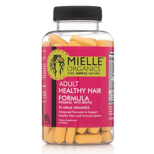 Mielle Organics Adult Healthy Hair Vitamins With Biotin Tablets 60 Ea