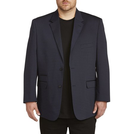 Men's Big & Tall Synrgy Jacket-Relaxer Grid Dinner Jacket